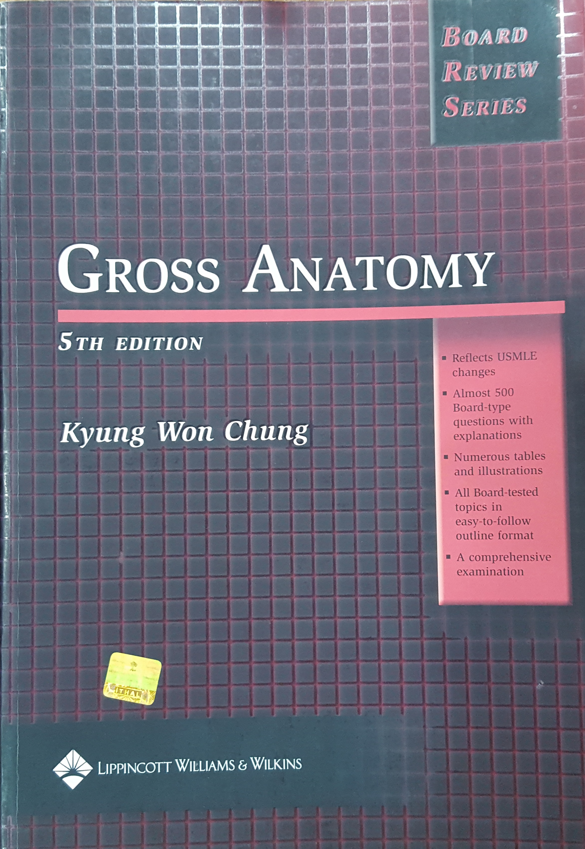 Gross Anatomy 5th Edition Board Review Series Anesthesiology